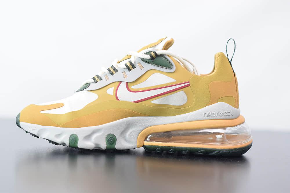 耐克Nike Air Max 270 React小麦色气垫运动鞋纯原版本 货号:AO4971-700