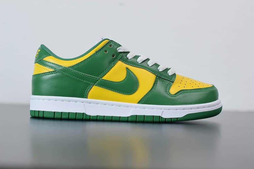 耐克 Nike Dunk Low SP巴西扣篮系列复古低帮休闲运动滑板鞋纯原版本 货号:CU1727-700