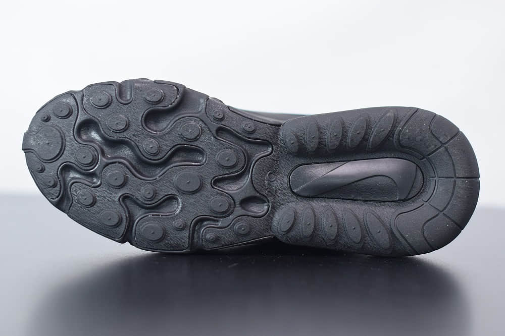 耐克Nike Air Max 270 React黑蓝色气垫运动鞋纯原版本 货号:CT2203-001