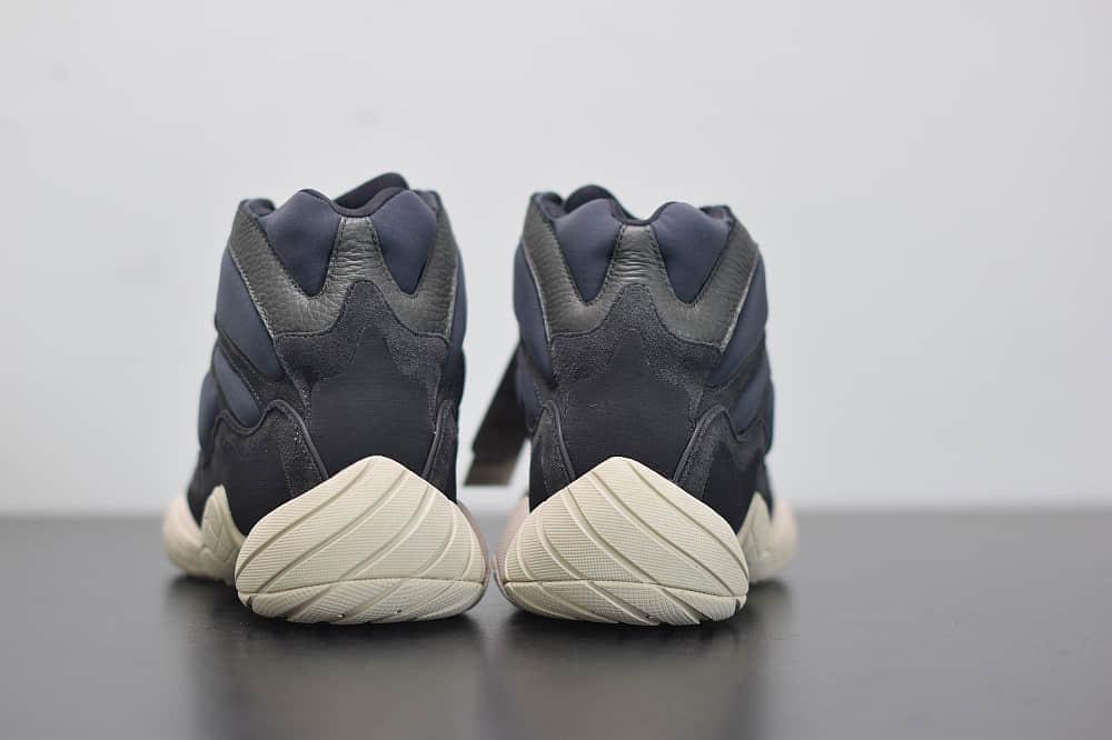 阿迪达斯Adidas YEEZY 500 HIGH「Slate」黑曜石高帮复古运动鞋纯原版本 货号:FW4968