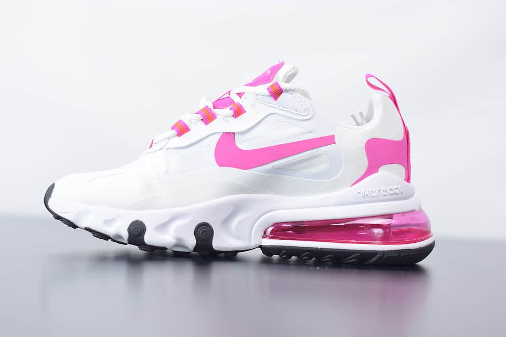 耐克Nike Air Max 270 React白粉色气垫运动鞋纯原版本 货号:CJ0619-100