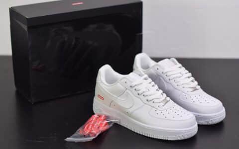 耐克Supreme x Nike Air Force 1 Low 2020Week空军一号低帮纯白联名限定款纯原版本 货号:CU9225-100