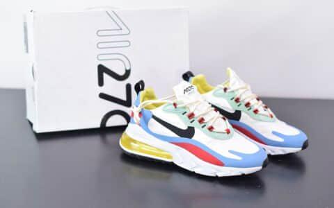 耐克Nike Air Max 270 React红黄蓝色气垫运动鞋纯原版本 货号:AT6174-002