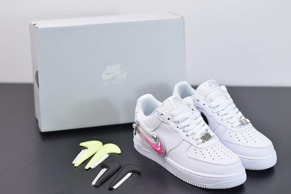 """耐克Nike Air Force 1'07 Low""""Zip Swoosh""""空军一号低帮拉链换勾板鞋纯原版本 货号:CW6558-100"""