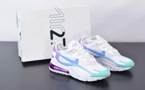 耐克Nike Air Max 270 React蓝紫渐变气垫运动鞋纯原版本 货号:AT6174-102