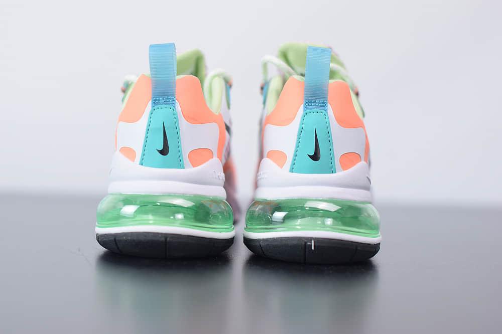 耐克Nike Air Max 270 React白绿紫色气垫运动鞋纯原版本 货号:CJ0620-600