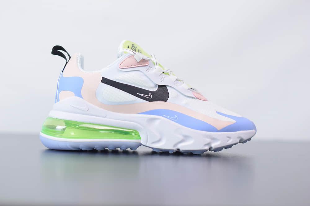 耐克Nike Air Max 270 React蓝绿紫色气垫运动鞋纯原版本 货号:CU4768-100