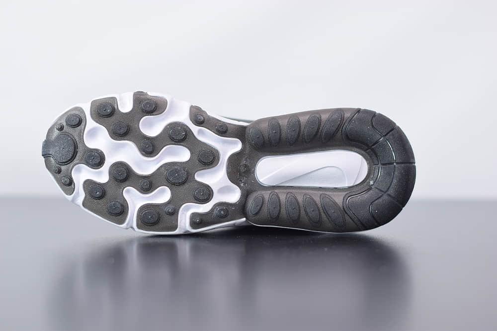 耐克Nike Air Max 270 React黑紫色气垫运动鞋纯原版本 货号:CT5064-001