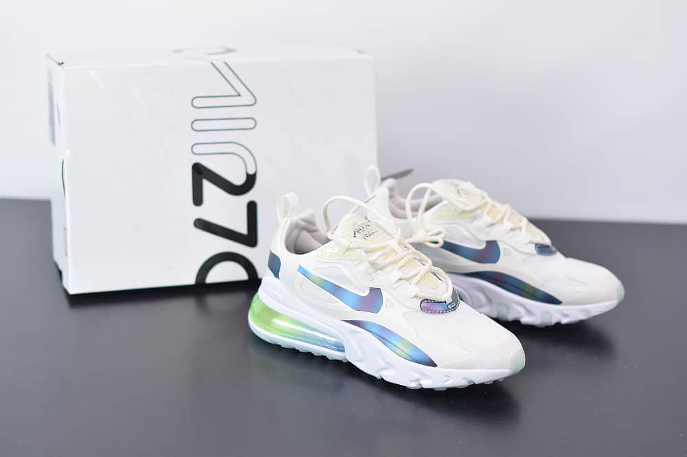 耐克Nike Air Max 270 React白绿色气垫运动鞋纯原版本 货号:CT5064-100