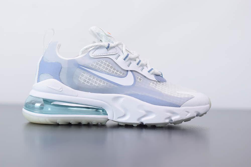 耐克Nike Air Max 270 React白色气垫运动鞋纯原版本 货号:CT1265-100