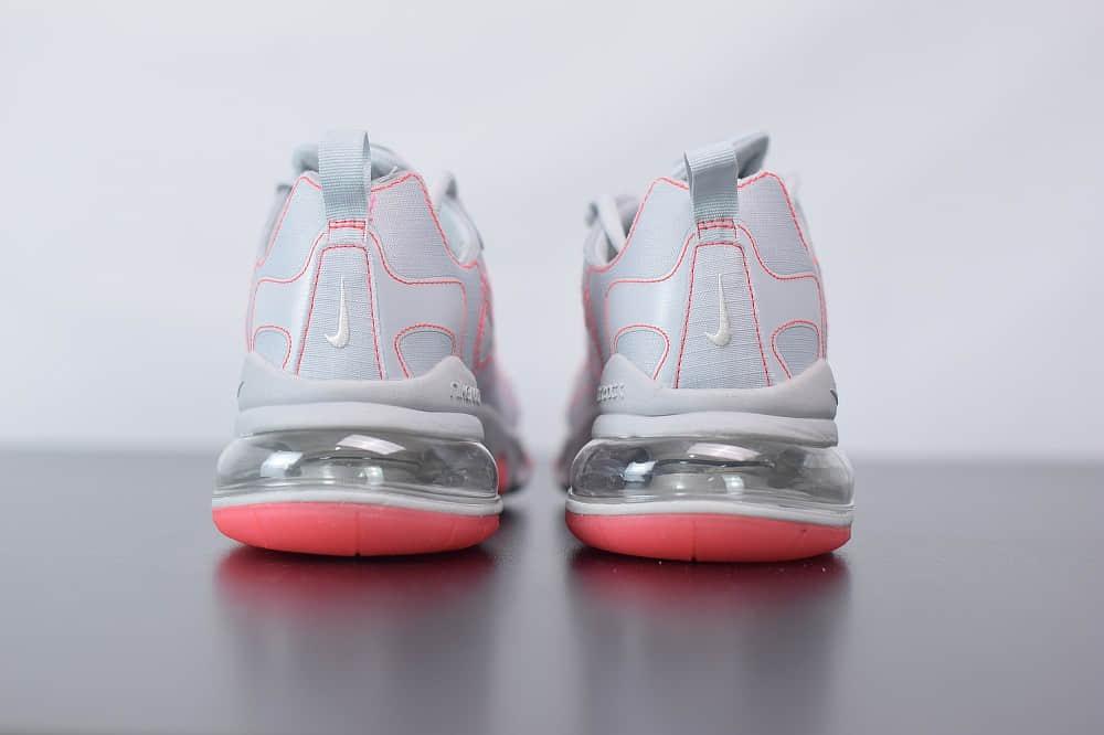 耐克Nike Air Max 270 React白红色气垫运动鞋纯原版本 货号:CQ6549-100