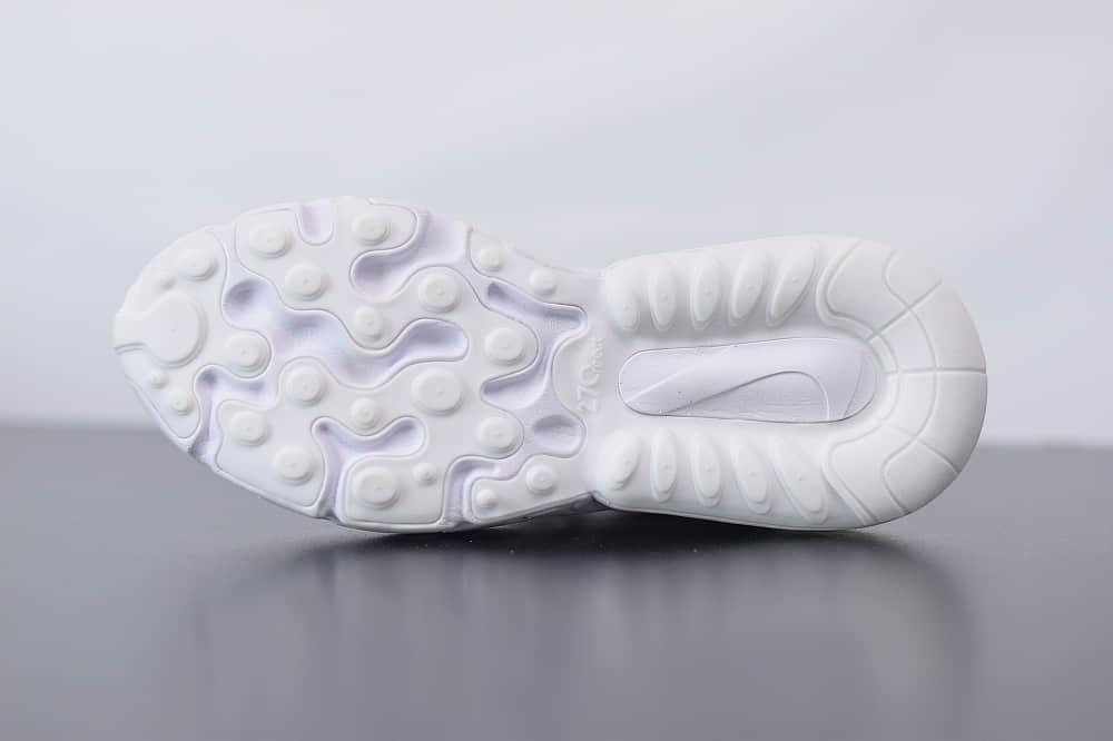 耐克Nike Air Max 270 React绿白红色气垫运动鞋纯原版本 货号:CV3025-100