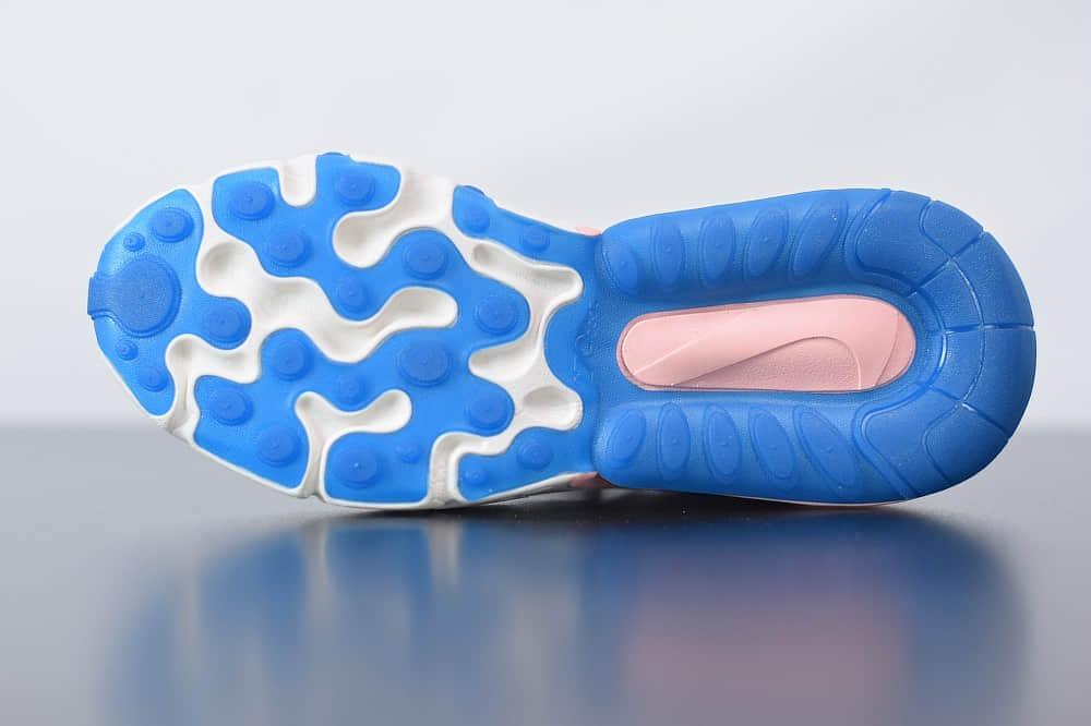 耐克Nike Air Max 270 React粉蓝色气垫运动鞋纯原版本 货号:AT6174-100