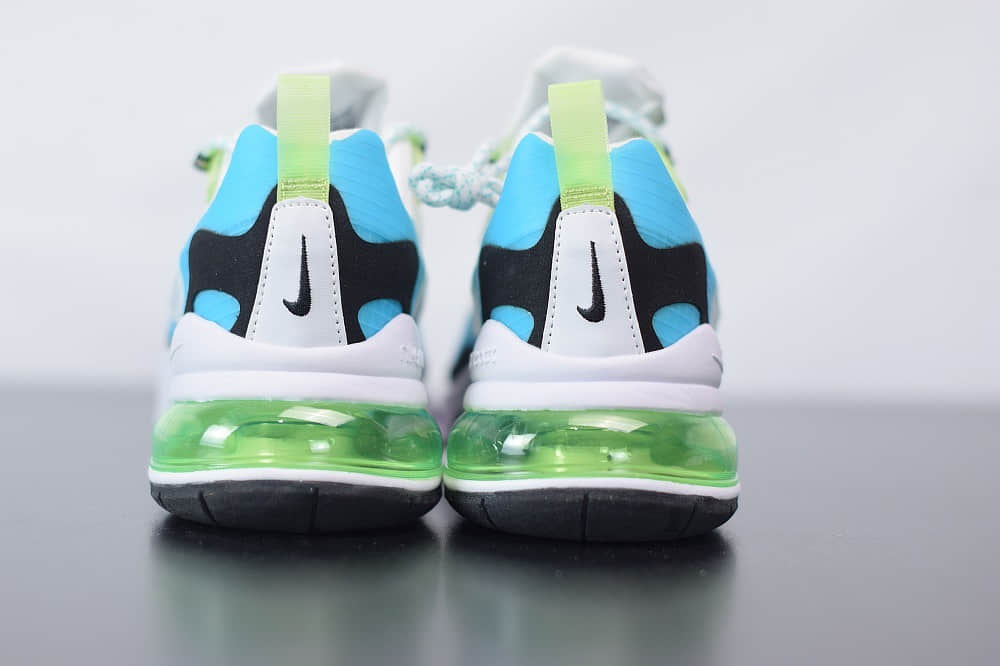 耐克Nike Air Max 270 React白绿色气垫运动鞋纯原版本 货号:CT1265-300