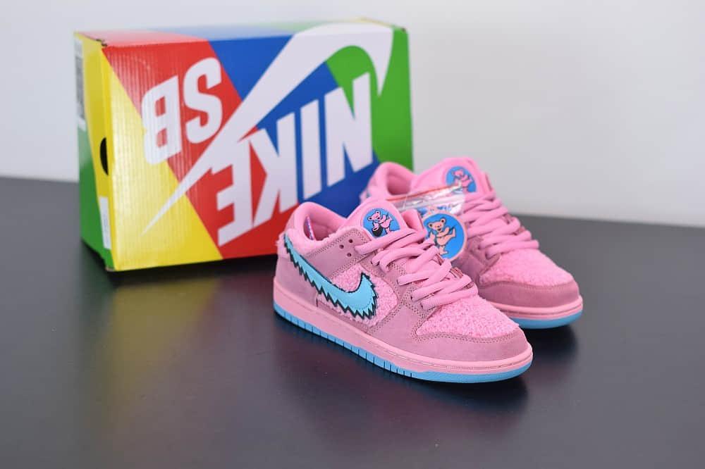 耐克NIKE SB DUNK LOW PRO QS粉蓝低帮跳舞小熊板鞋纯原版本 货号:CJ5378-600