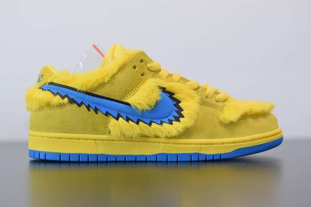 耐克NIKE SB DUNK LOW PRO QS黄蓝低帮跳舞小熊板鞋纯原版本 货号:CJ5378-700