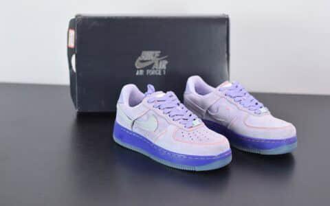 耐克Air Force 1 07断钩鸳鸯香芋紫低帮板鞋纯原版本 货号:CT7358-500