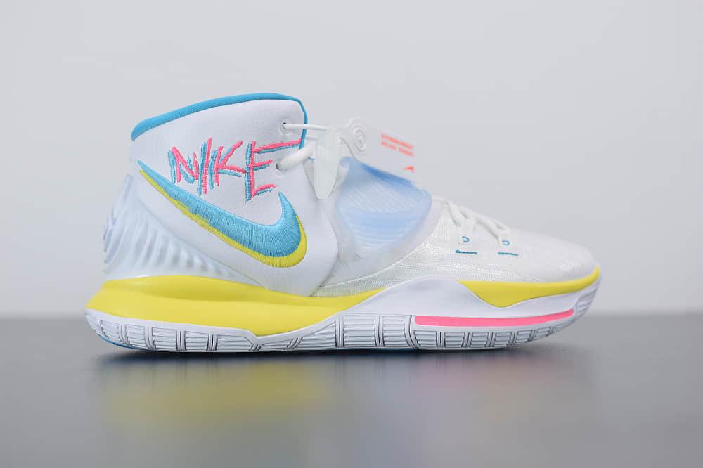耐克Nike Kyrie 6欧文6代涂鸦南海岸篮球鞋纯原版本 货号:BQ4631-101
