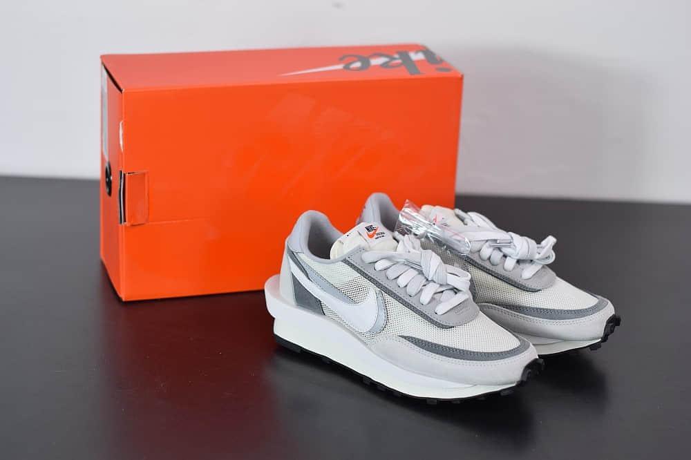 耐克Sacai x Nike LVD Waffle Daybreak华夫白灰联名走秀款纯原版本 货号:BV0073-100