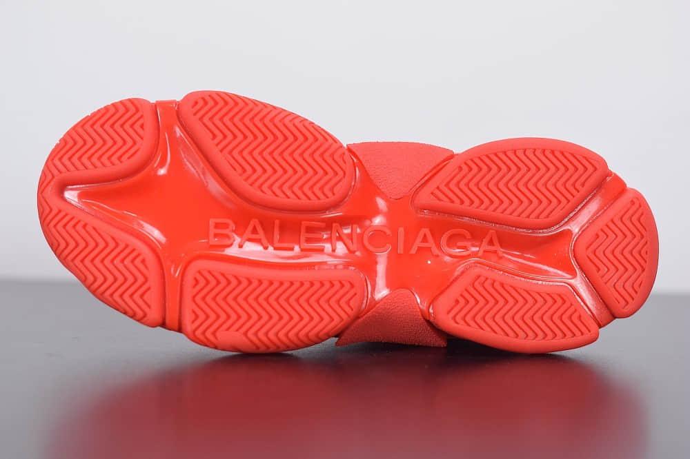 巴黎世家Balenciaga Triple S大红标识复古老爹鞋纯原版本