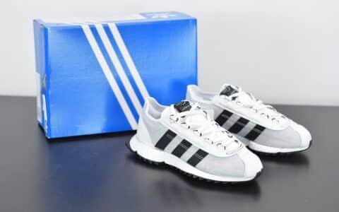 阿迪达斯Adidas SL 7600 Boost白黑色复古透气爆米花跑鞋纯原版本 货号:FV9796