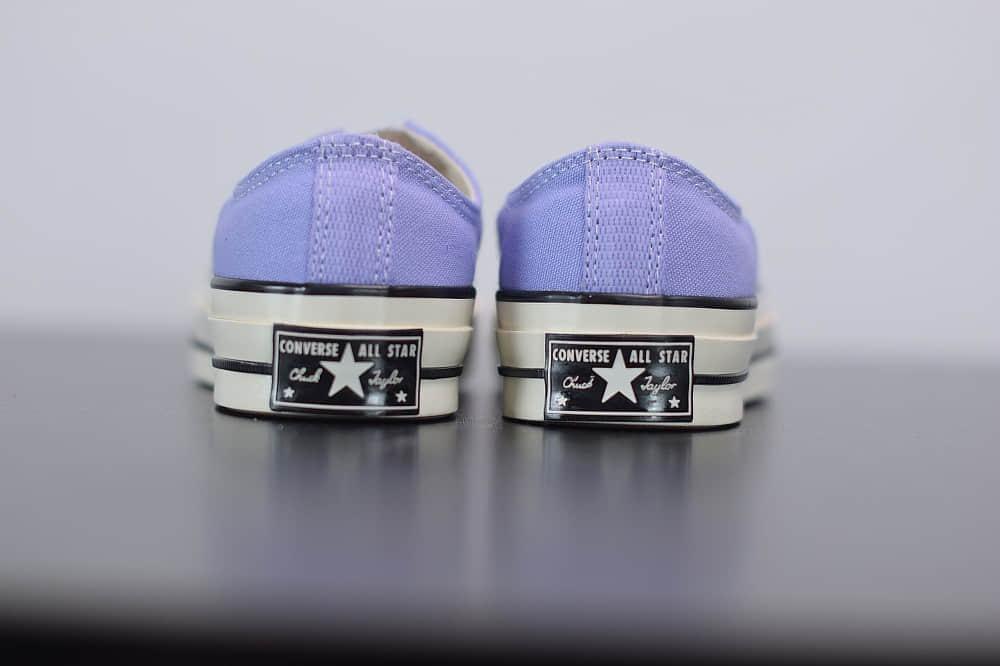 匡威converse all star1970S三星标低帮香芋紫硫化帆布鞋纯原版本 货号:164405C