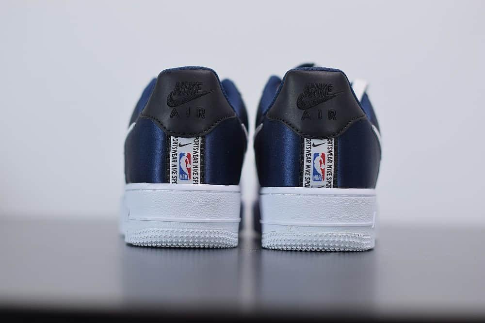 耐克Nike Air Force 1'07 LV8 1HO19空军一号白蓝丝绸拼接板鞋纯原版本 货号:BQ4420-400