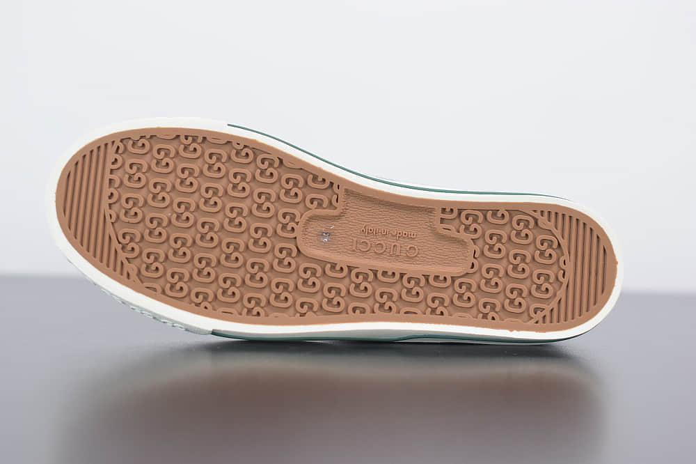古驰Gucci Tennis 1977低帮帆布牛仔蓝休闲鞋纯原版本 货号:606111H0G104370