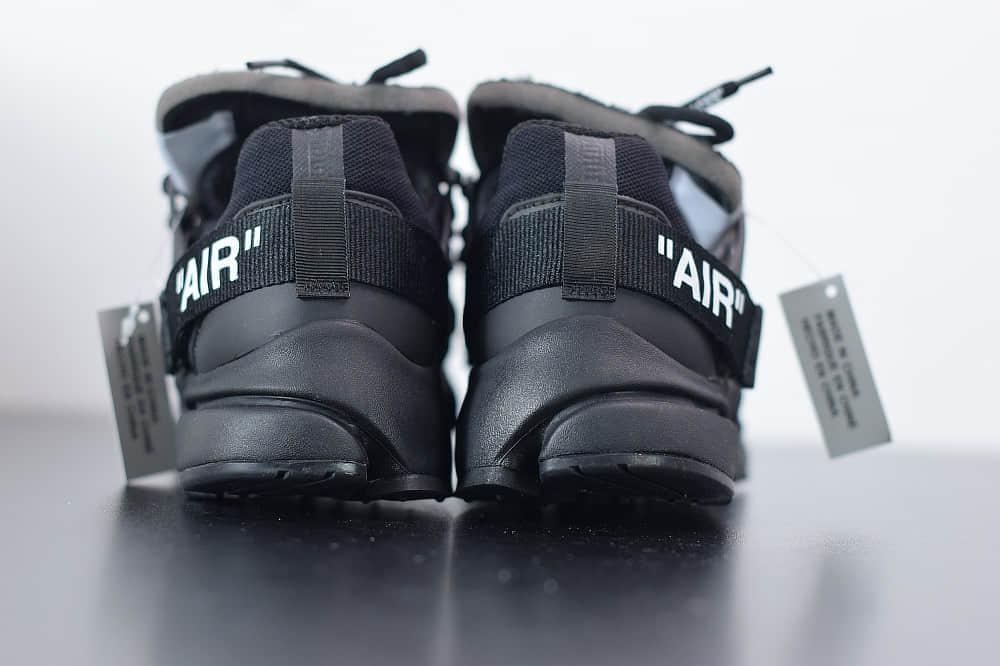 耐克Nike Air Presto x OFF-WHITE 2.0 The Ten耐克王解构OW黑色联名袜子跑鞋纯原版本 货号:AA3830-002