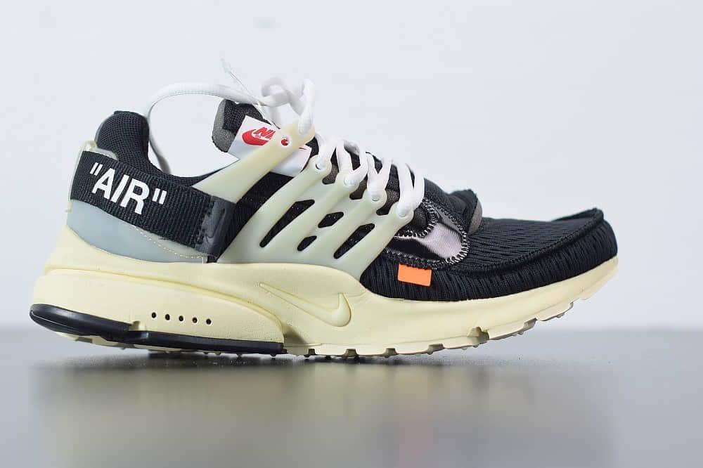 耐克Nike Air Presto x OFF-WHITE 2.0 The Ten耐克王解构OW黑白色联名袜子跑鞋纯原版本 货号:AA3830-001