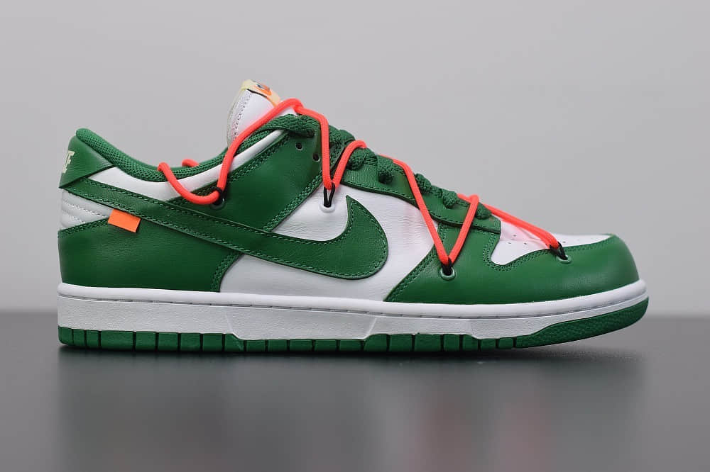 耐克OFF-WHITE x Futura x Nike Dunk白绿低帮联名款休闲板鞋纯原版本 货号:CT0856-100