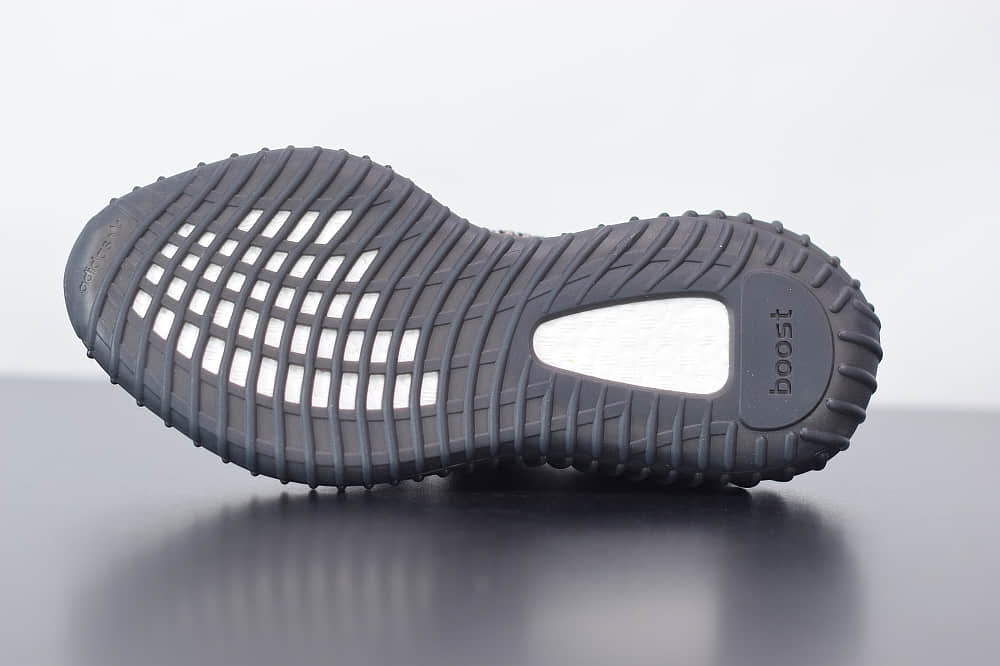 阿迪达斯ADIDAS YEZZY 350 V2彩虹黑天使休闲慢跑鞋纯原版本 货号:FW5190