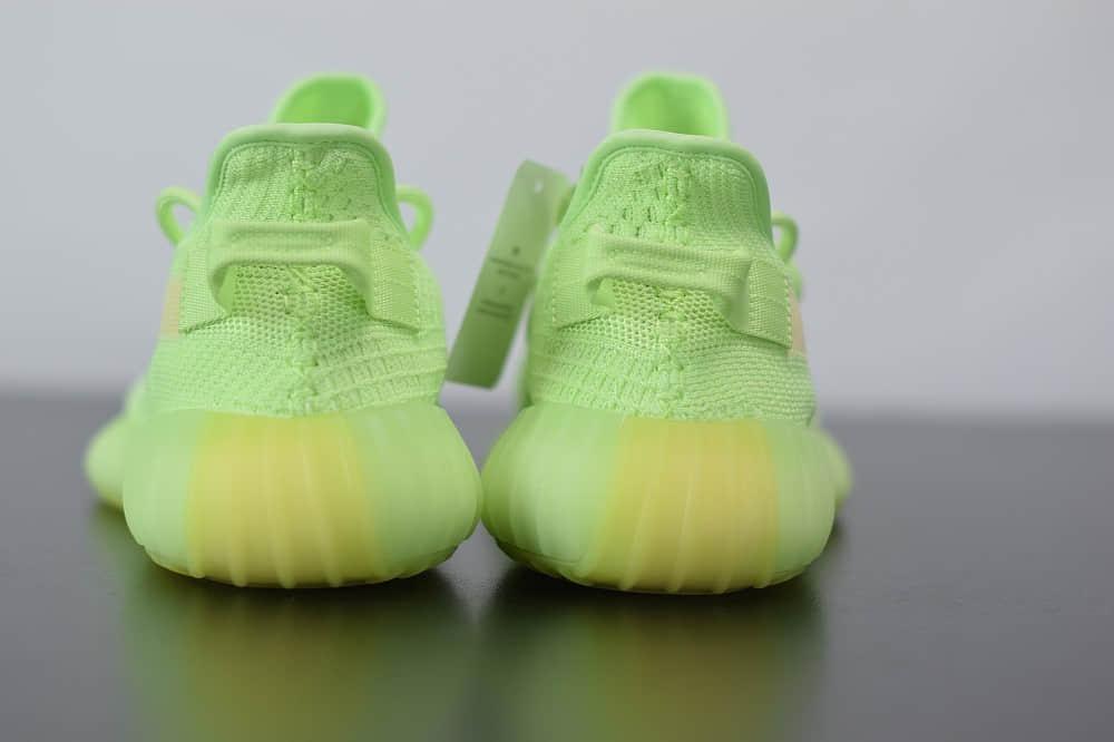阿迪达斯Adidas Yeezy Boost 350 V2荧光绿休闲慢跑鞋纯原版本 货号:EG5293