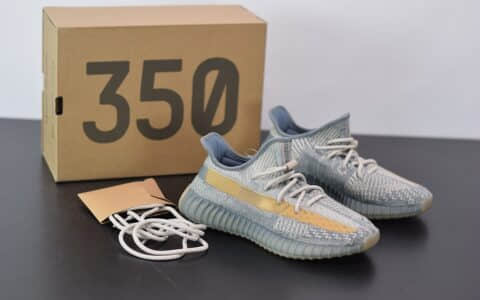 阿迪达斯ADIDAS YEZZY 350 V2灰蓝配色休闲慢跑鞋纯原版本 货号:FZ5421