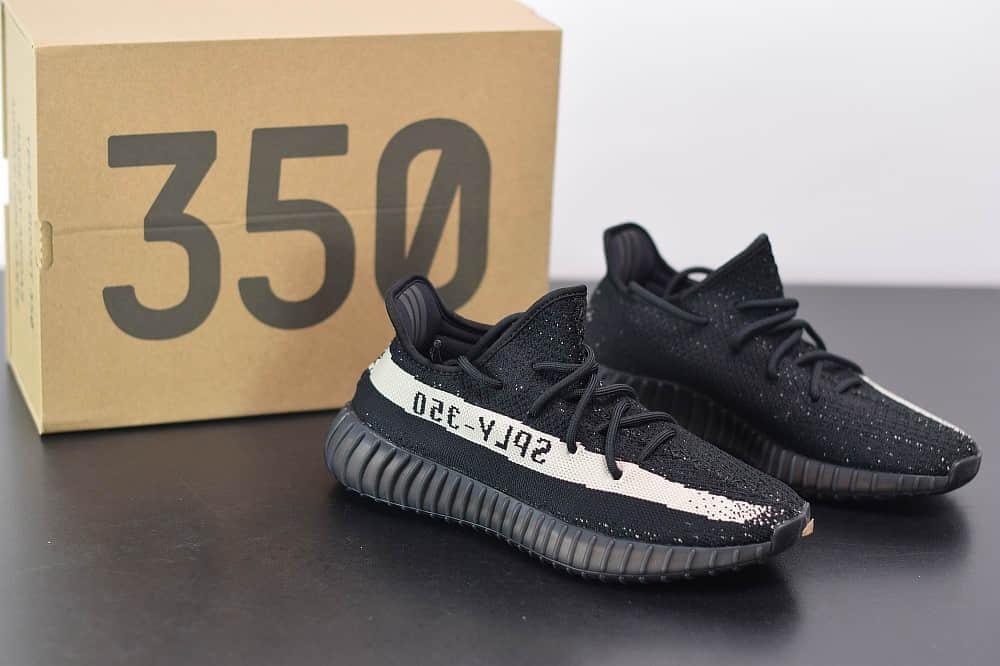 阿迪达斯ADIDAS YEZZY 350黑白爆米花休闲慢跑鞋纯原版本 货号:BY1604