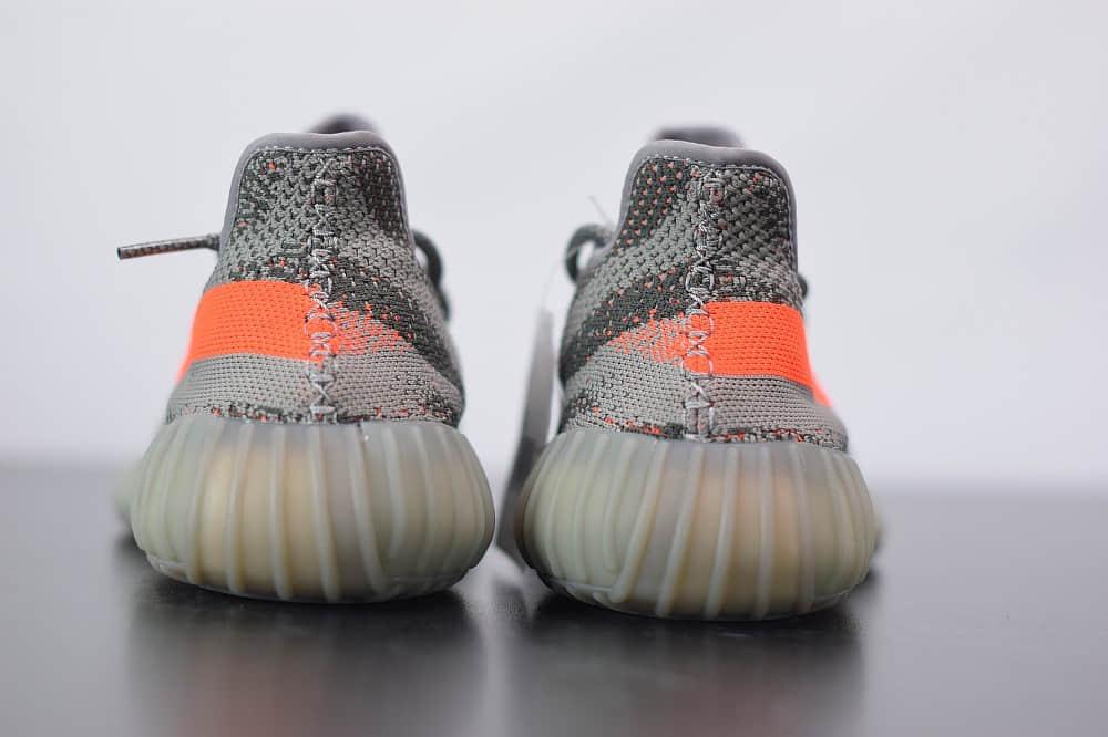 阿迪达斯ADIDAS YEZZY 350 V2灰橙爆米花休闲慢跑鞋纯原版本 货号:BB1826
