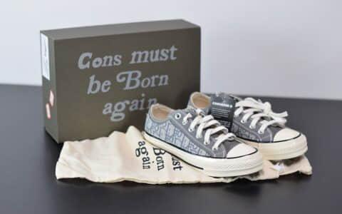 匡威Dior x Converse 匡威 1970S 迪奥联名款 帆布低帮休闲板鞋纯原版本