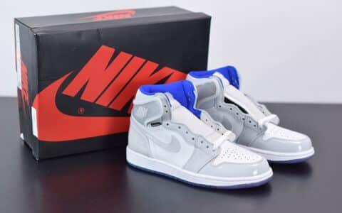 """乔丹Air Jordan 1 Zoom R2T """"Racer Blue"""" 白蓝小迪奥高帮板鞋纯原版本 货号:CK6637-104"""