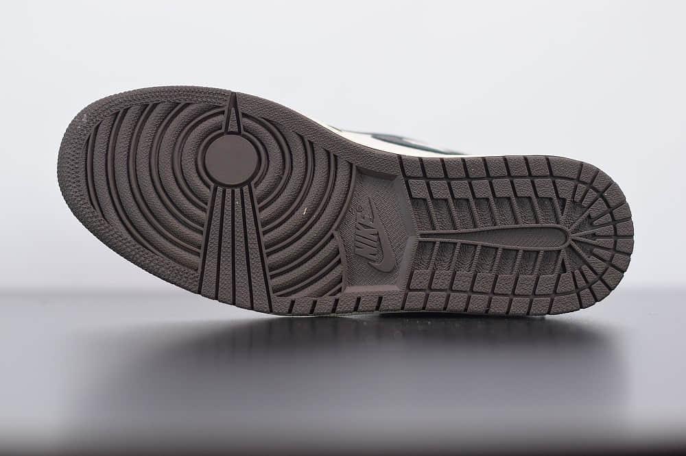 乔丹Air Jordan aj1 AJ1联名TS倒钩深棕鬼脸板鞋纯原版本 货号:CD4487-100