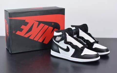 乔丹AIR JORDAN 1 MID AJ1中帮黑白熊猫百搭板鞋纯原版本 货号:554725-113