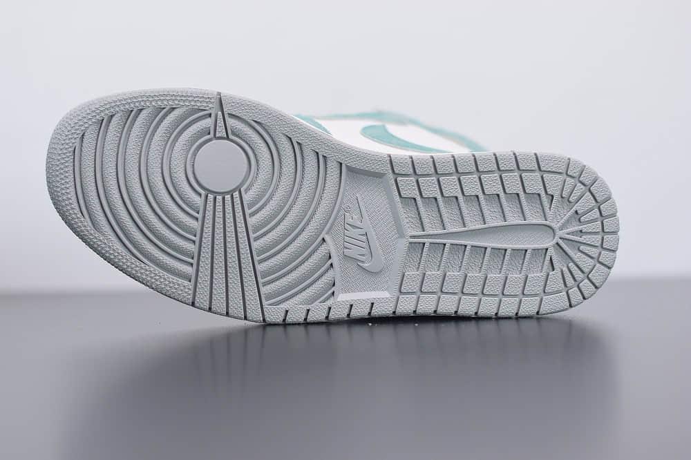 """乔丹Air Jordan 1 Retro High OG """"Turbo Green""""AJ1高帮湖水绿蒂芙尼板鞋纯原版本 货号:555088-311"""