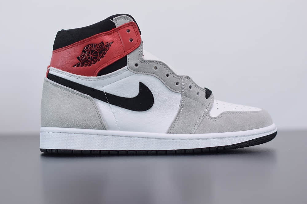 """乔丹Air Jordan 1 """"Light Smoke Grey""""AJ1高帮烟灰配色纯原版本 货号:555088-126"""