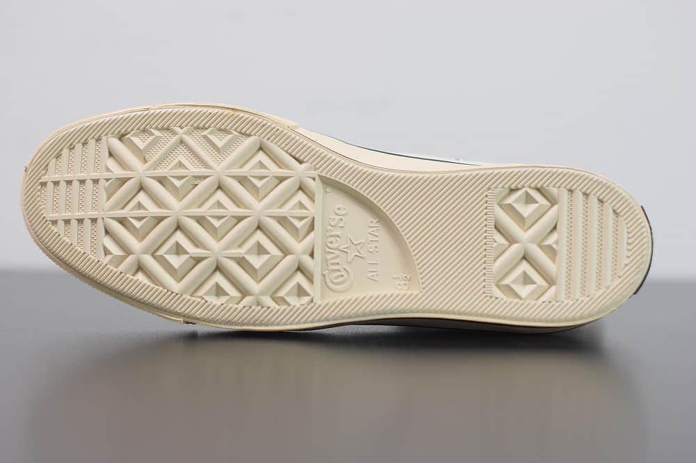 匡威Fear Of God Essentials x Converse 70s FOG匡威联名高帮米白黑硫化鞋纯原版本 货号:167955C