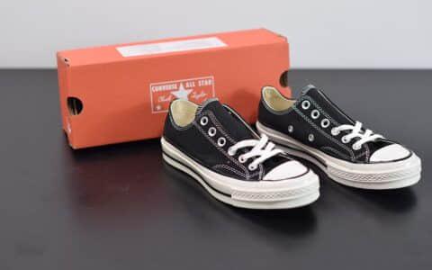 匡威converse all star1970S三星标低帮经典纯黑硫化帆布鞋纯原版本 货号:162058C