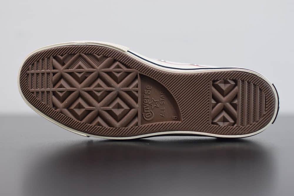 匡威converse all star1970S三星标低帮经典纯白硫化帆布鞋纯原版本 货号:162065C