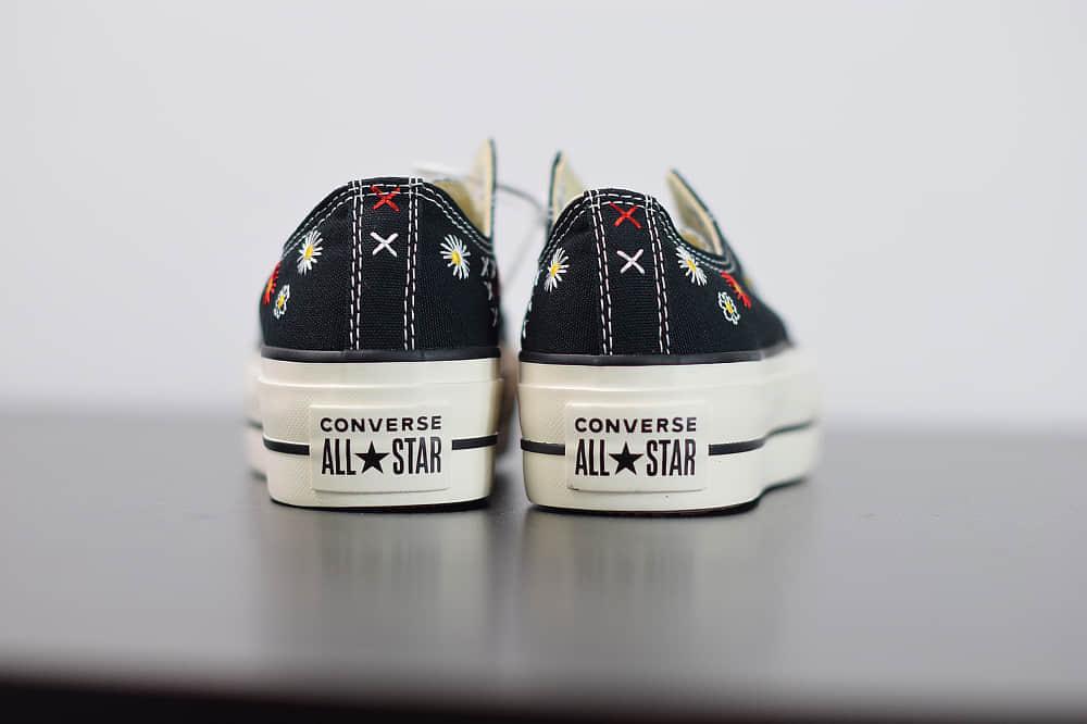 匡威Converse All Star 低帮深蓝刺绣小菊花帆布硫化鞋纯原版本 货号:567994c