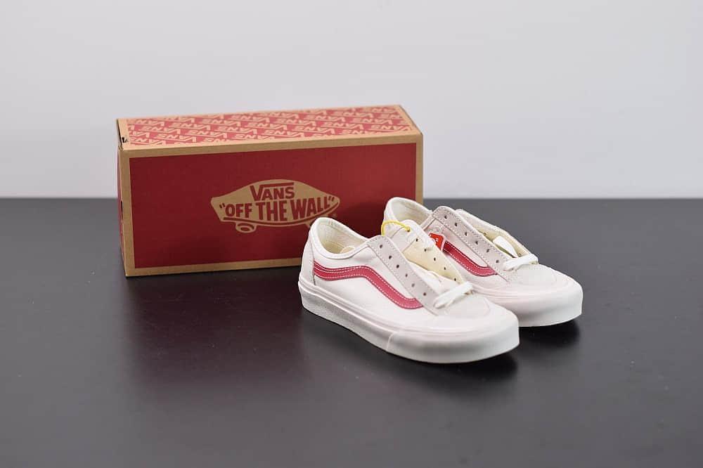 万斯Vans Style 36 Decon SF 权志龙低帮白红杀人鲸半月包头硫化帆布鞋纯原版本 货号:VN0A3DZ3OXS