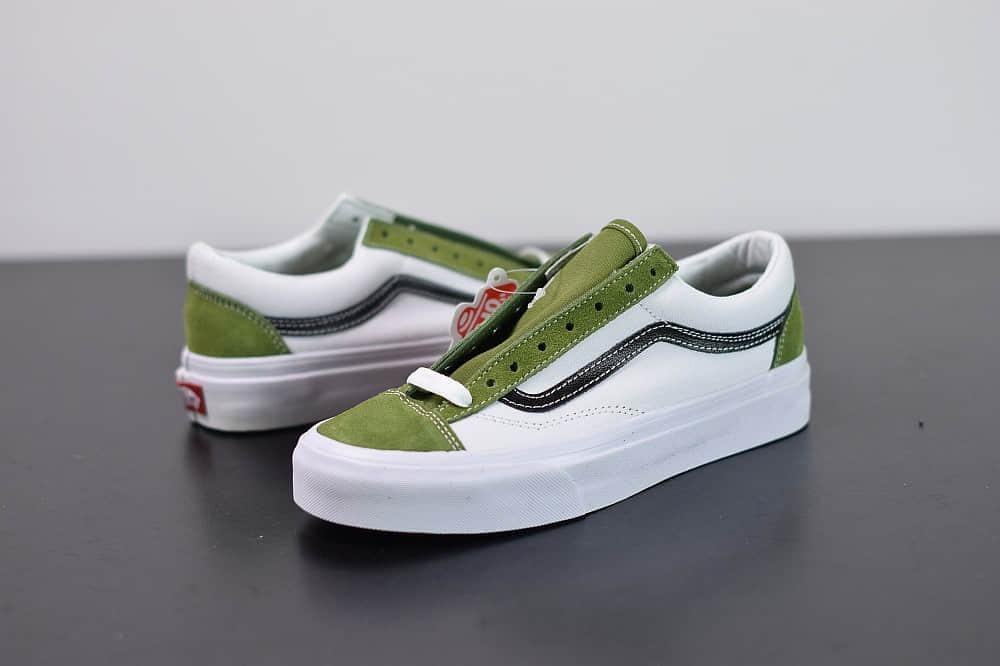 万斯VANS SALT WASH STYLE 36 DECON SF低帮牛油果白绿配色帆布鞋纯原版本 货号:VN0A3DZ3WZ6