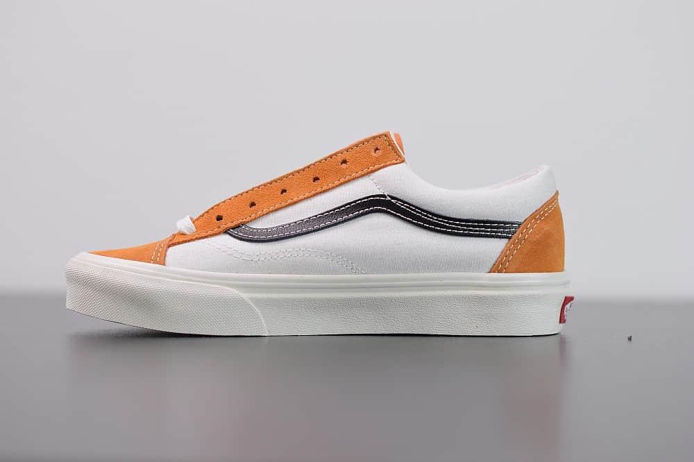 万斯VANS SALT WASH STYLE 36 DECON SF低帮牛油果焦糖橘白配色帆布鞋纯原版本 货号:VN0A3DZ3WZ6