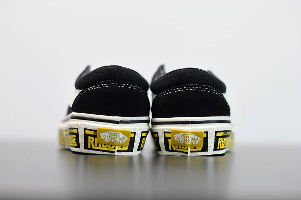 万斯Vans x Rhude Bold Ni 联名款加州车牌串标黑黄配色复古滑板鞋纯原版本 货号:VN0A3WLPTHF